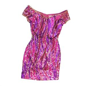 Alyce Designs Sequin Short Formal Dress